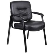 Boss Executive Mid Back LeatherPlus Guest Chair (B7509)