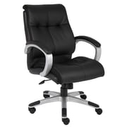 Boss Double Plush Mid Back Executive Chair (B8776S-BK)