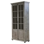 MOTI Furniture Syracuse Glazed 2 Doors Accent Cabinet