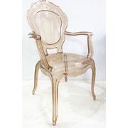 Jeco Inc. Plastic Arm Chair (Set of 2)