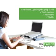 Uncaged Ergonomics WorkEZ Light Notebook Stand, Black