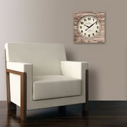 "FirsTime® 15.5"" Weathered Square Wall Clock"