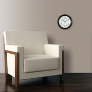"FirsTime® 11"" Black Slim Wall Clock"