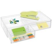 InterDesign Plastic 2-Drawers Glasses Organizer, Clear (39760)