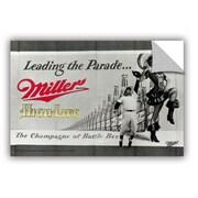 ArtWall Miller Coors 1950 Highlife Poster - Leaping Baseball Player - Sports 1 Wall Mural