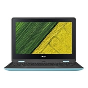 """Acer Spin 1 SP111-31-C62Y 11.6"""" Touchscreen LCD Notebook, 500GB, Windows 10 Home, Black/Turquoise Blue"""