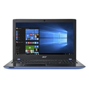"Acer Aspire E5-553G-F8EF 15.6"" Notebook, LCD, AMD FX-9800P, 1TB HDD/128GB SSD, 16GB, Windows 10 Home, Black/Indigo Blue"