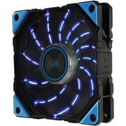 Enermax D.F.VEGAS 1500 RPM 120 mm Cooling Fan, Blue/Black (UCDFV12P-BL)