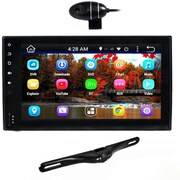 Pyle Double DIN Android Stereo Receiver/Dual Camera System, Black (PLDNAND465)