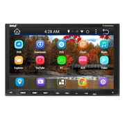 Pyle Double DIN Android Stereo Receiver Headunit, Black/Silver (PLDNAND692)