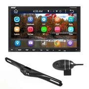 Pyle Double DIN Android Stereo Receiver/Dual Camera System, Black/Silver (PLDNANDVR695)