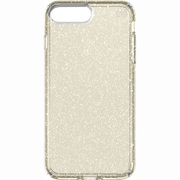"speck 79983-5636 Presidio Polycarbonate Case for 5 1/2"" Apple iPhone 7 Plus, Clear/Gold Glitter"
