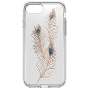 "speck 79985-5948 Presidio Polycarbonate Print Case for 5 1/2"" Apple iPhone 7 Plus, Clear/Showy Feather Gold"