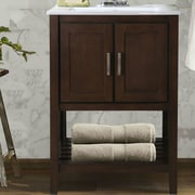 Legion Furniture 24'' Single Bathroom Vanity Set; Antique Coffee