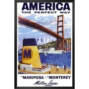 Buy Art For Less 'America Matson Line' Framed Graphic Art; 36'' H x 24'' W x 1'' D