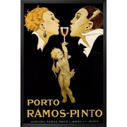 Buy Art For Less 'Porto Ramos-Pinto' Framed Vintage Advertisement; 24'' H x 16'' W x 1'' D