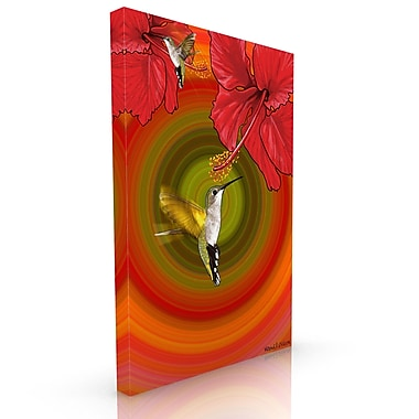 Maxwell Dickson Bloom Graphic Art on Wrapped Canvas; 36'' H x 24'' W