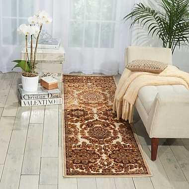 Kathy Ireland Home Gallery Bel Air Versailles Ivory Area Rug; Runner 2'1'' x 7'