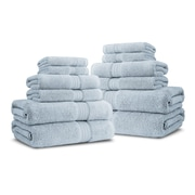 Luxor Linens Bliss Egyptian Quality Cotton Luxury 12 Piece Towel Set; Robin's Egg Blue