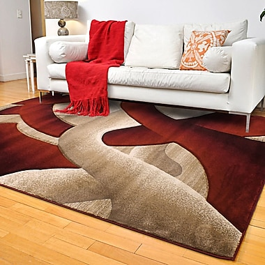 Segma Reflections Light Beige Area Rug; 8' x 11'