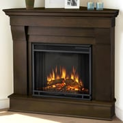 Real Flame Chateau Corner Electric Fireplace; Dark Walnut