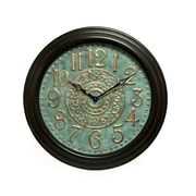 Wilco Home Smokey Cabin 28'' Round Embossed Metal Wall Clock