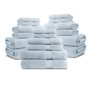 Luxor Linens Bliss Egyptian Quality Cotton Luxury 18 Piece Towel Set; Robin's Egg Blue