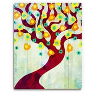 Click Wall Art 'Fun Time Tree Time' Graphic Art on Wood; 14'' H x 11'' W x 1'' D