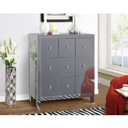 Gallerie Decor Reflections 9 Drawer Cabinet; Smoked Mirror