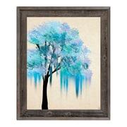 Click Wall Art 'Melting Blue Tree' Framed Painting Print; 33.5'' H x 23.5'' W x 1'' D