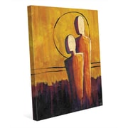 Click Wall Art 'Away From the Orange Sun' Painting Print on Canvas; 20'' H x 16'' W x 1.5'' D