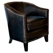 Home Loft Concepts Starks Barrel Chair; Black