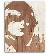 Click Wall Art 'Drippy City Girl Brown' Graphic Art on Wood; 30'' H x 20'' W x 1'' D