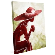 Click Wall Art 'Coffee Brake Red' Painting Print on Wrapped Canvas; 40'' H x 30'' W x 1.5'' D