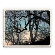 Click Wall Art 'Lost Wood's Horizon' Graphic Art on Wood; 16'' H x 20'' W x 1'' D