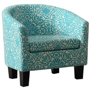 iNSTANT HOME Florinio Mysterious Skyblue Barrel Chair