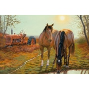 ReflectiveArt 'Old Farm Hands' by Dallen Lambson Print of Painting on Wrapped Canvas