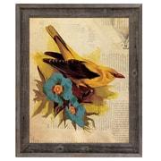 Click Wall Art 'Goldfinch w/ Blue Flowers' Framed Graphic Art ; 23.5'' H x 19.5'' W x 1'' D