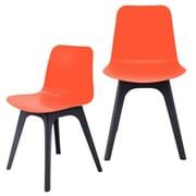eModern Decor Hebe Series Dining Shell Side Chair (Set of 2); Orange