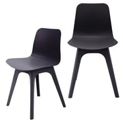 eModern Decor Hebe Series Dining Shell Side Chair (Set of 2); Black