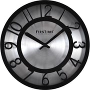 "FirsTime® 8"" Black on Steel Wall Clock"