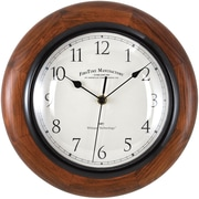 "FirsTime® 11"" Walnut Casual Round Wall Clock"