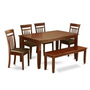 Wooden Importers Dudley 6 Piece Dining Set; Faux Leather