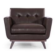 Kardiel Jackie Mid Century Modern Club Chair; Deep Brown