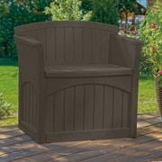 Suncast 31 Gallon Storage Chair; Dark Brown