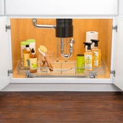 Lynk Lynk Professional  U-Shaped Roll Out Under Sink Drawer   Pull Out Under Cabinet Organizer Shelf