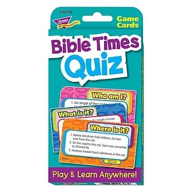 Trend Enterprises® Challenge Cards, Bible Times Quiz