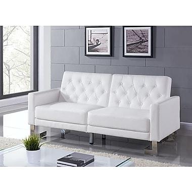 Casabianca Furniture Talenti Casa Convertible Sofa White