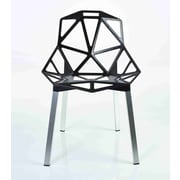 C2A Designs Web Side Chair; Black