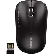 CHERRY Symmetrical 3-Button USB Wireless Mouse with Receiver, Black (MW 2110)
